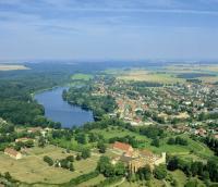 Dargun mit Klostersee von oben - Bild 2: Ferienhaus am Klosterwald - Dargun