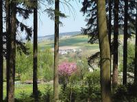 unweit des Ferienhauses Blick auf Ort, dem Schießberg und Liebenstein - Bild 8: Ferienhaus Familie Ziller Crottendorf Erzgebirge