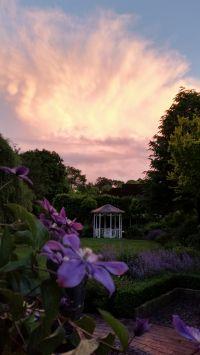 Der abendliche Blick von der Terasse in den Garten - Bild 2: Schicke Fewo an der Nordseeküste-Ostfriesland