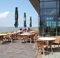 Cafe Strandlust mit Blick aufs Meer an der Knock - Bild 14: Haus am Fluß, Garten, Nordseenähe, gerne Familien,Paare,Singles, Hunde