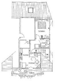 "Bild 11: Galerie****Fewo ""Widercherie"" 1 OG, 2 Pers. Balkon, w-lan"