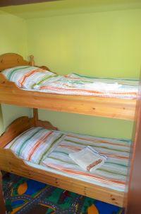 1 x Stockbett, geht vom Doppelbettzimmer aus - Bild 20: Haus am Bergflüsschen - Whirlwanne - Garten - Pool - Sauna - Alleinnutzung