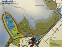 Lage von Greetsiel an der Leybucht mit Kanal zur Schleuse, dadurch tideunabhängigkeit der Krabbenkutterflotte - Bild 14: Hundefreundliche Ferienwohnung Seetiger Greetsiel