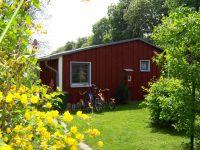 """Sie finden hier u.a. den Fahrradständer, Grill auf abgeschlossenem Gartengrundstück. - Bild 14: Ferienhaus """"Anna"""" auf Rügen zwischen den Ostseebädern Binz und Sellin"""