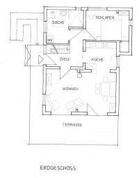 Zur Orientierung, hier ein detaillierter Grundriss des Erdgeschosses. - Bild 14: mitten in d. Natur, modern,ruhiges Haus für 6 Pers. rollstuhlgerecht