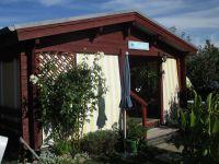 """Der Eingang über die Veranda. - Bild 2: Reif für die Insel Usedom?... dann in´s neue Blockhaus """"Kajüte""""!"""