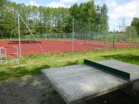 Tennisplatz / Tischtennis und soccey Hockeyball-Spielfeld für 2 bis 6 Personen, nur 200m von der Unterkunft entfernt - Bild 17: Ferienzimmer im schönsten Tal der Oberlausitz, in der Cunewalder Obermühle