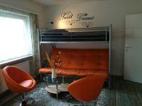 Bietet maximal 5 Schlafplätze und ist zu den Wohnzimmern auch mit einem großen Flachbildfernseher ausgestattet. - Bild 20: Haus Panoramablick im Oberharz mit 50.000er Internet