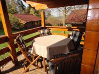 Blickrichtung Stamsried von der Terrasse (Haus 23) aus. - Bild 8: Urlaub im Blockhaus - Ruhe und Natur für Mensch und Hund
