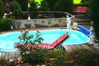 Bild 17: Ferienhaus Gabriela mit eingezäunten Garten und privatem Swimmingpool